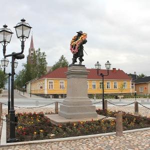 Pekkatorin valtias ja Raahen kaupungin perustaja Per Brahe - Pekkapatsas