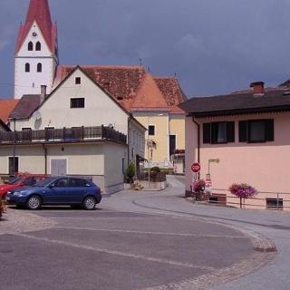 Start in Kainach am Dorfplatz