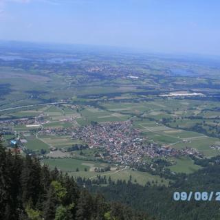 Blick Richtung Ohlstadt beim Abstieg