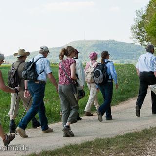 ...am Birkenwäldle vorbei, mit Blick auf den Hesselberg