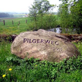 Pilgerstein am Vorberger Weg