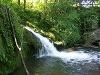 Wasserfall an der Ruine Anhausen   - © Quelle: Antje Kunz