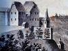 Ansicht der Burg Leofels von 1806   - © Quelle: Wikipedia