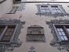Altes Schloss Gaildorf: Prächtig bemalte Fassade im Innenhof   - © Quelle: Antje Kunz