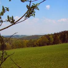 Blick von der Schutzhütte Rahrbach
