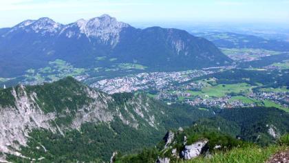 Blick vom Dreisesselberg Richtung Bad Reichenhall  - Salsburg