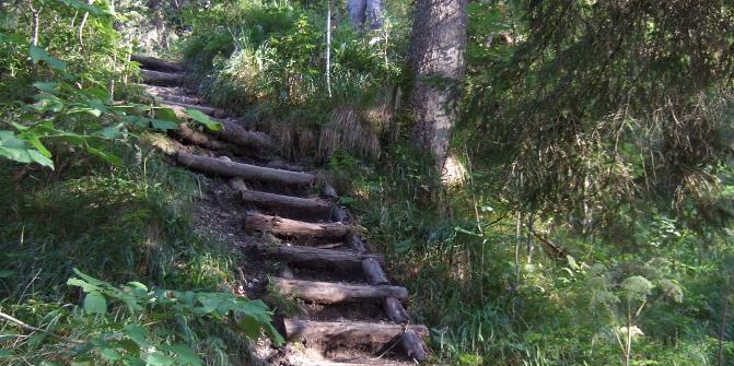Abstieg über Kälbersteig 2