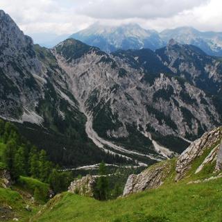 Blick auf Steinkarspitze und Wechselkopf