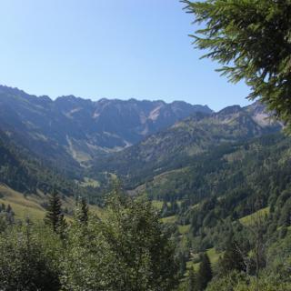Etappe 1: Ausblick Retterschwanger Tal