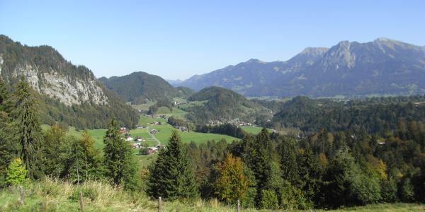 Blick von der Sesselalpe auf Oberstdorf