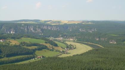 Blick zur Bastei (Juli 2011)