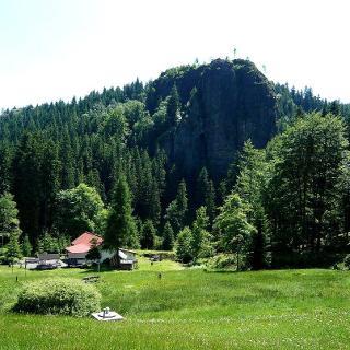 Der Falkenstein-höchster Kletterfelsen im Thüringe Wald