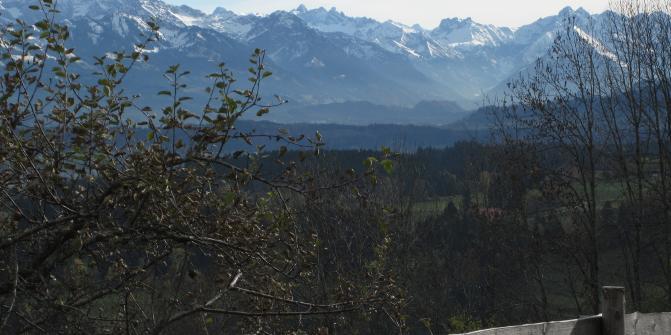 """Blick von der Terrasse des Berghofs """"Alpenblick"""""""