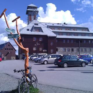 Fichtelberghaus auf 1200 m Höhe