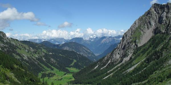 Aufstieg zur Mannheimer Hütte über Oberzalimhütte