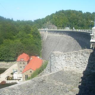 Staumauer Boberstausee (Aug. 2011)