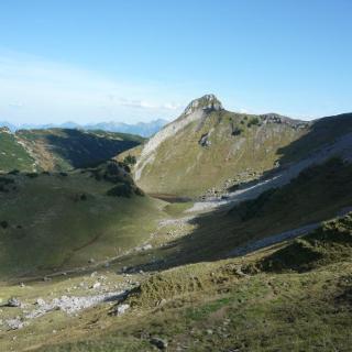 Torkopf - unten geht der Wanderweg entlang