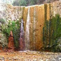 Wasserfall in der Caldera