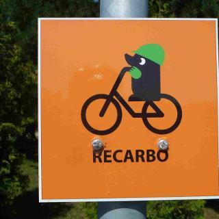 Logo des RECARBO Radweges