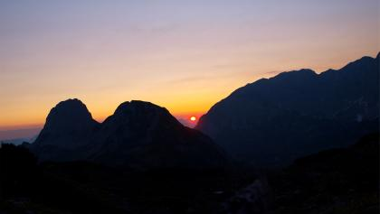 Sonnenaufgang Nähe Laufener Hütte
