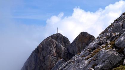 Am Gipfelgrat um 2300 m