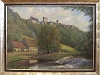Burg Amlishagen und Hammerschmiedewehr, Gemälde von Otto Albrecht   - © Quelle: Antje Kunz