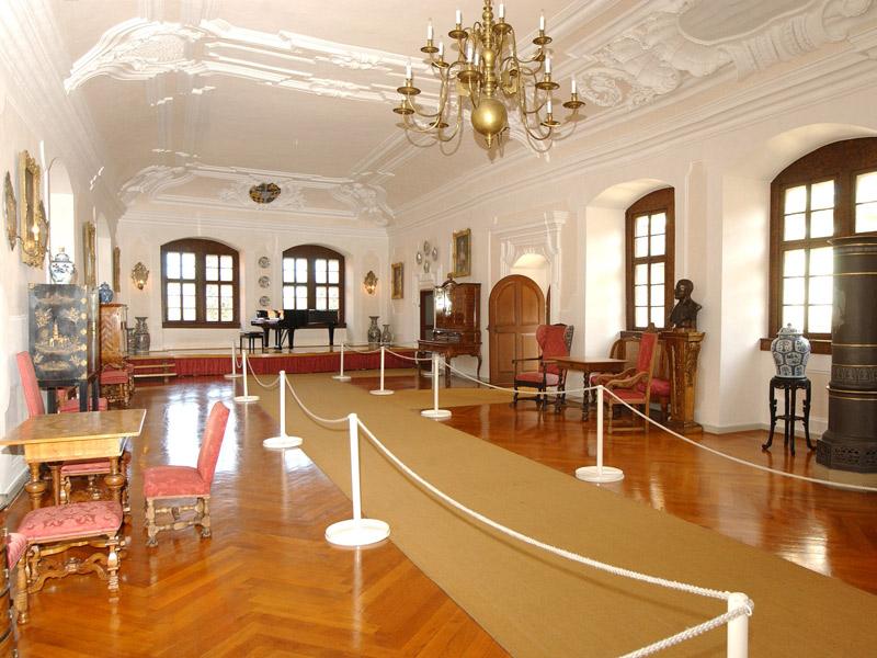Schlossmuseum Langenburg: Der Barocksaal   - © Quelle: Schloss Langenburg
