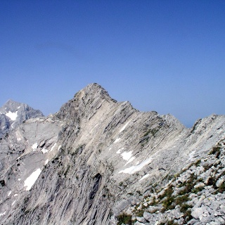 Angelmauer 2102 m im Blickfeld
