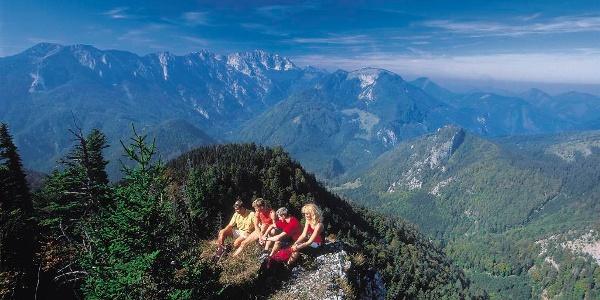Gipfelblick vom Trämpl, Nationalpark Kalkalpen
