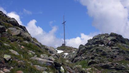 Wir haben den Gipfel der Hochkreuzspitze fast erreicht
