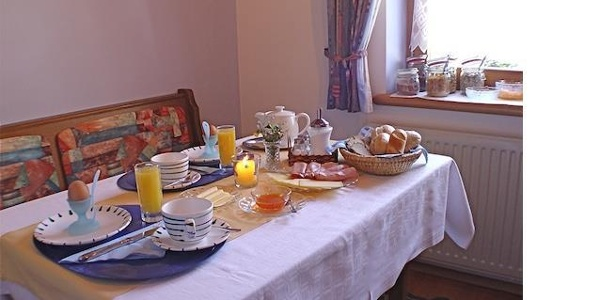 Frühstück im Alpenhaus Silvretta
