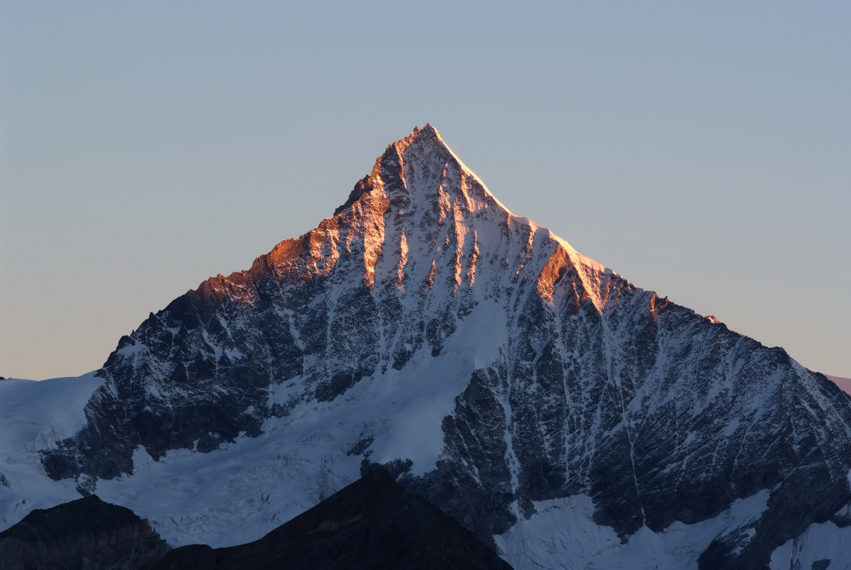 View of the Weisshorn (4,506 m)