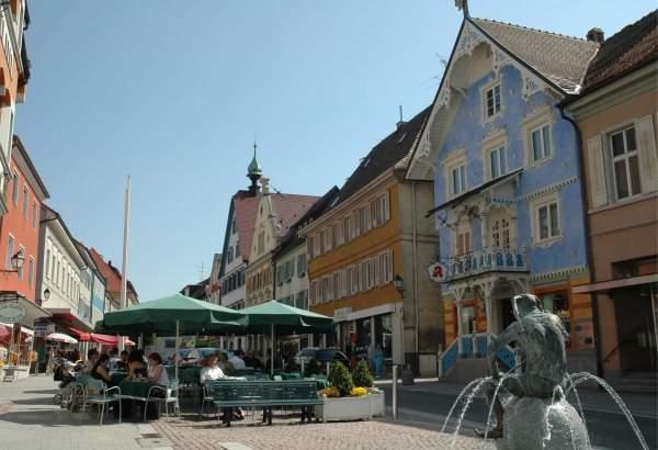 Die restaurierte Altstadt von Stockach