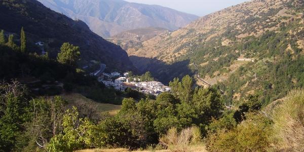 Blick auf Pampaneira