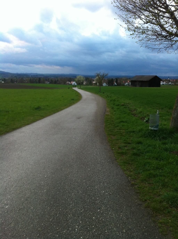 Auf dem Rückweg hat man einen großartigen Weitblick auf Weilheim (Antonie Schmid)