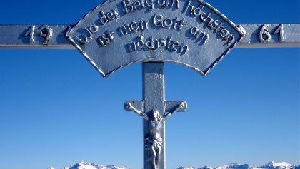 Gipfelkreuz Hochtristen 2536 m