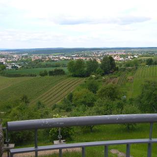 Blick über Oberderdingen ins Kraichgau