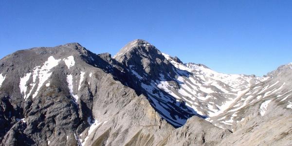 Scheichenspitze 2667 m vom Eselstein gesehen