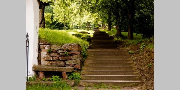 Stufen zum Franziskanerkloster Engelberg