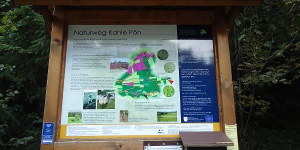 """Starttafel und Information am Wanderparkplatz """"Kahle Pön"""""""