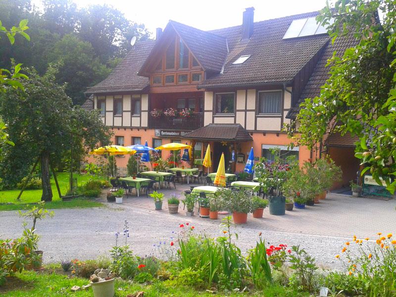 """Gasthof """"Hertensteiner Mühle"""" in Blaufelden-Billingsbach   - © Quelle: Hohenlohe + Schwäbisch Hall Tourismus e.V."""
