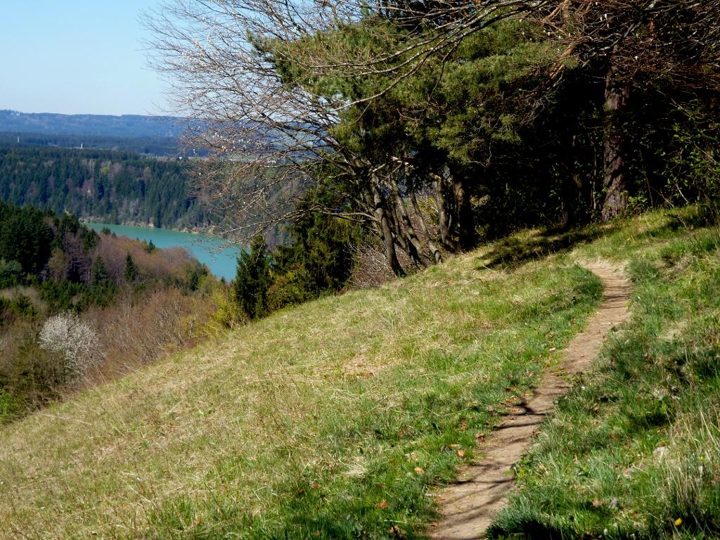 Auf schmalen Pfaden verläuft der Abstieg vom Kalvarienberg in Richtung Süden. (Monika Heindl)