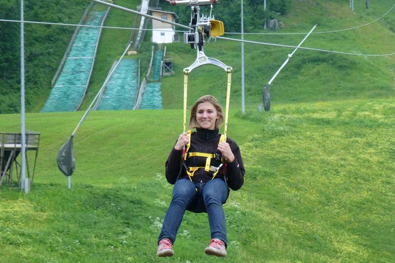 Flug mit dem Flying Fox in Oberaudorf