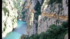 Route der Schlucht von Mont-rebei