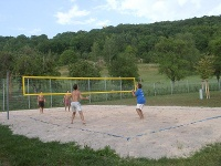 Beach-Volleyball im Freibad