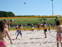 Beach-Volleyballfeld im Naturerlebnisbad