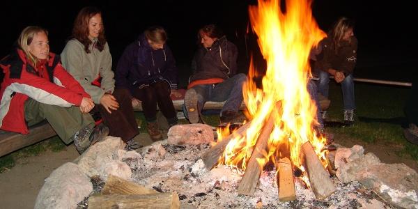 Eine Nacht verbringen wir am Biwakplatz Steyrsteg