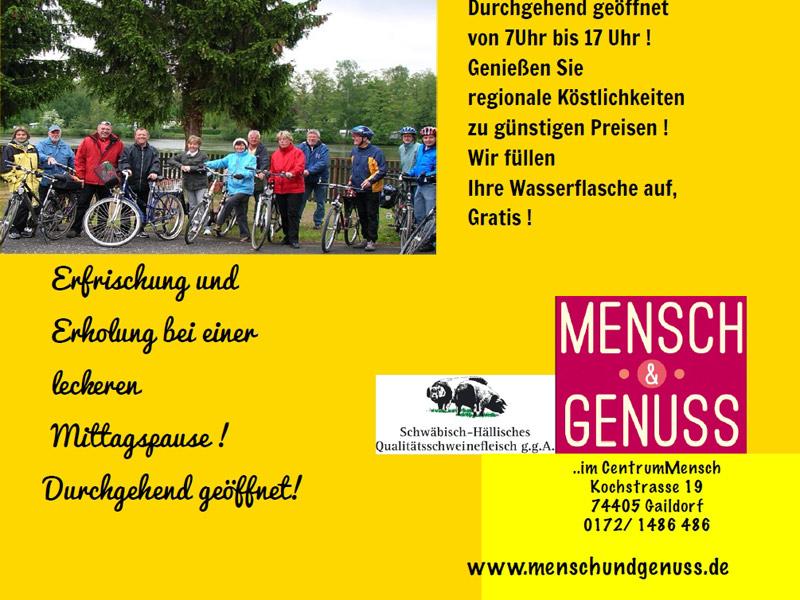 Mensch und Genuss in Gaildorf   - © Quelle: Hohenlohe + Schwäbisch Hall Tourismus e.V.