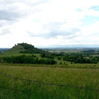 Blick zur Staufener Burg