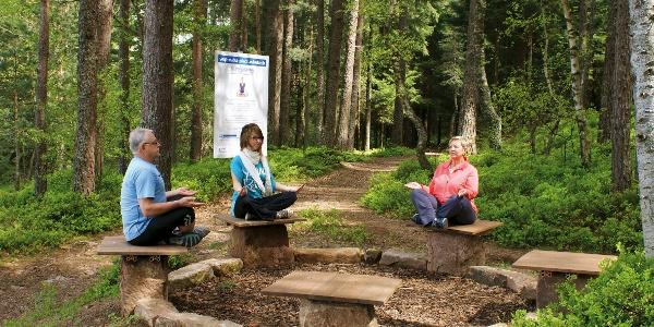 Station am Yoga-Natur-Pfad